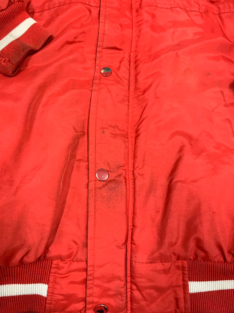 Vintage 90s San Francisco Forty Niners Puffer Hoodie Jacket By Starter