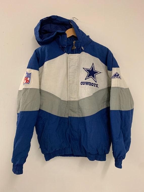 Vintage 1990s Dallas Cowboys Apex One Zip UpHooded