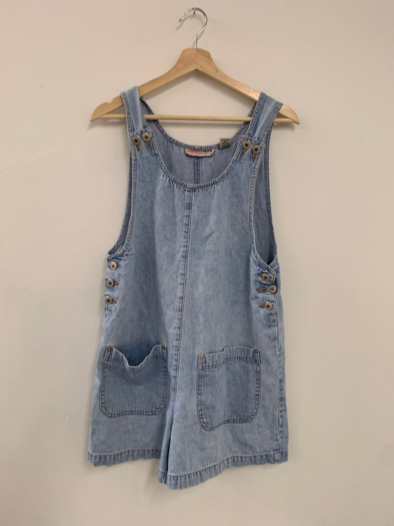 Vintage 90s Overalls Medium wash denim dress