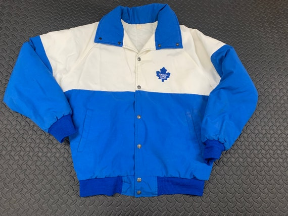 Vintage 80s Toronto MapleLeafs Button up puffer co