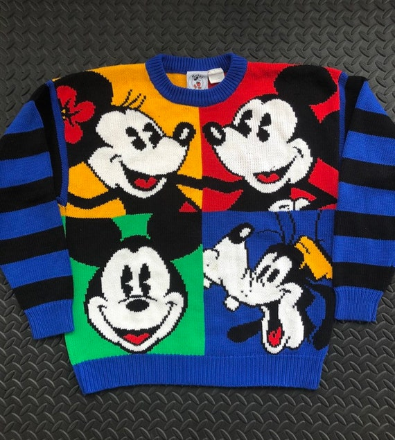 Vintage 90s Mickey Mouse Knit Sweater Mickey & Co.