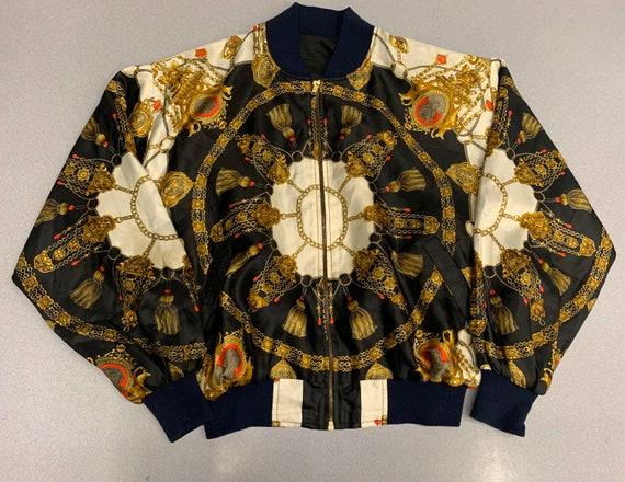 Vintage 90s Chandelier All over print Jacket Chane