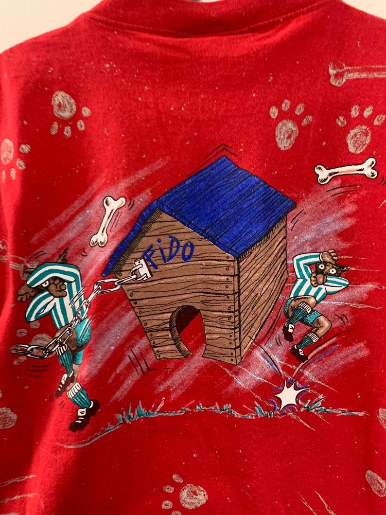 Vintage 90s Bad To The Bone Dog Graphic Kids Shirt