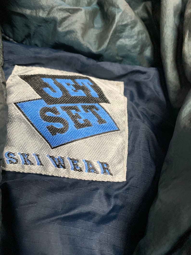 Vintage 90s Jet Set Ski Wear Vibrant Full Piece Unisex Snowsuit
