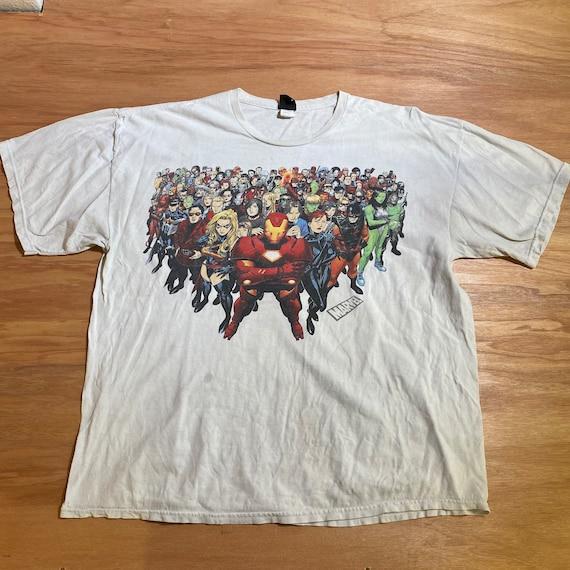 Vintage Y2K Marvel Comics superheroes T Shirt