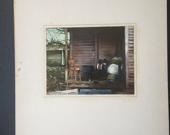 "1950s - C. Bennett Moore Flexichrome Photograph - ""All Modern Conveniences"" - African American - New Orleans"