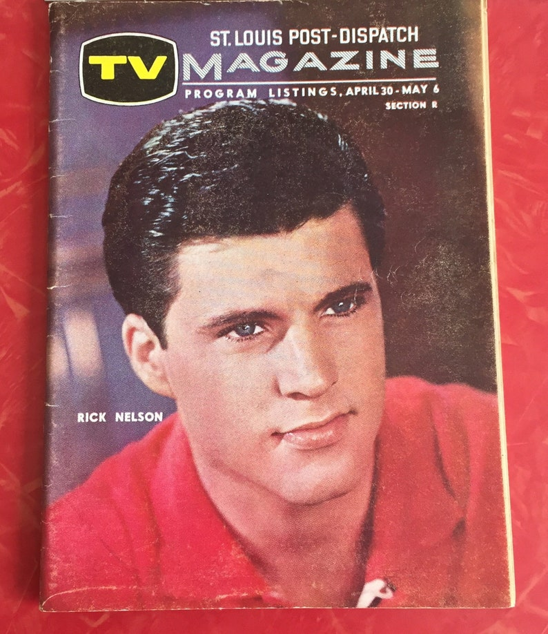 1961 Ozzie, Harriet, David and Ricky (Rick) Nelson TV Guide St  Louis  Post-Dispatch TV Magazine April 30 - May 6 1961