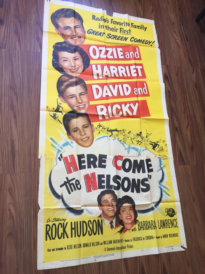 1951 - Here Come The Nelsons - 3 Sheet Poster (41x81) - Ozzie, Harriet,  David, Rick (Ricky) Nelson - Rock Hudson