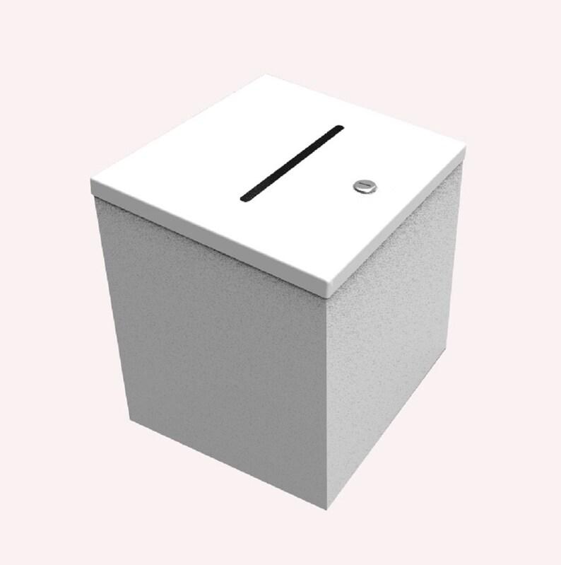 Metal Box Donation Box Charity Box Suggestion Box Fundraising Tithing Ballot Box