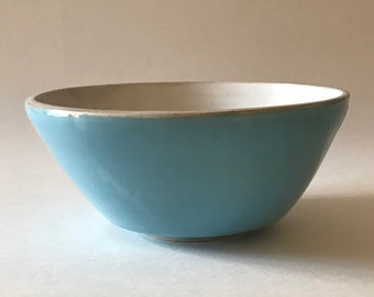 ceramic bowl pottery Archive Breakfast Bowl in Blue Porcelain