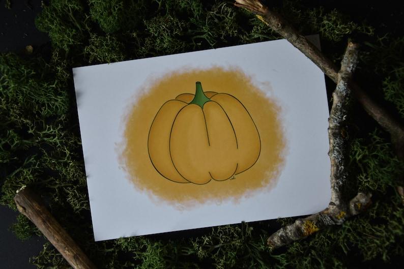 Halloween Pumpkin Print  A6 Card image 0