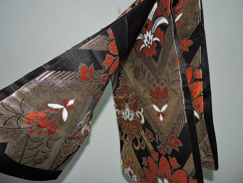 Vintage Fabric Japanese Kimono Yukata Sash Belt Home Decor Table Runner Mat Wall Display Art Fukuro Obi FOB060520-02
