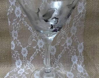 Marbled Martini Glass