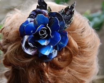 Trading Card Rose Hair Clip