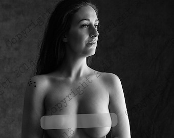Sensual art nude woman photography color or black and white