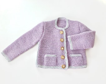 Baby jacket, traditional jacket, cardigan, hand knitted, costume