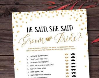 Wedding Games Etsy