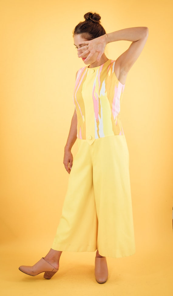 Pink and yellow 70s Jumpsuit - image 2