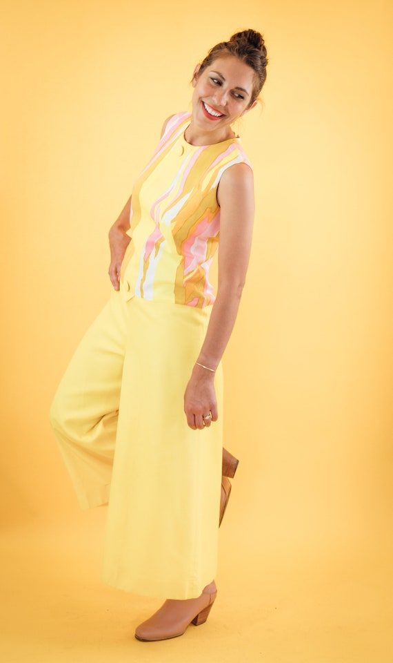 Pink and yellow 70s Jumpsuit - image 3