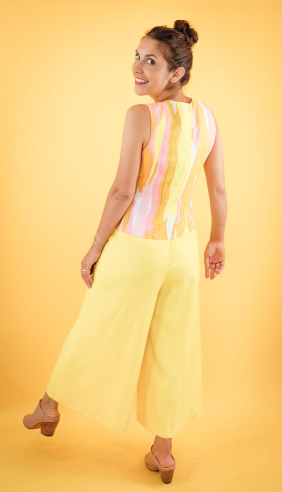 Pink and yellow 70s Jumpsuit - image 1