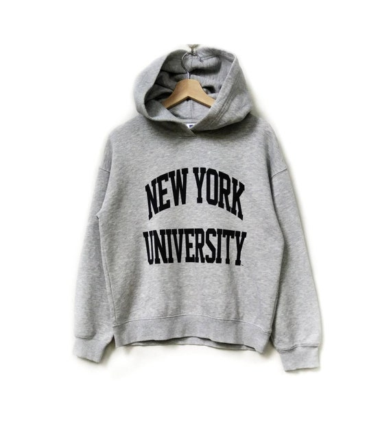 New York University Spell Out Logo Pullover Hoodie