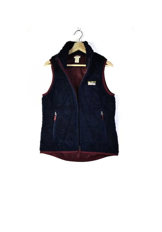 Vintage 90's Stunning LL.Bean Sherpa Fleece Vest J