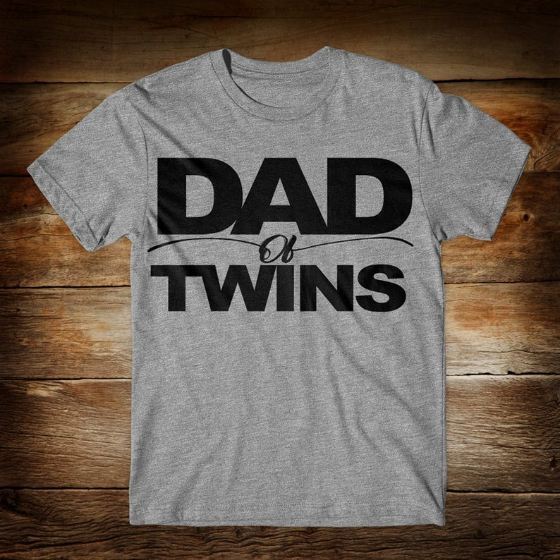 250a7a60 Dad of Twins Mens T Shirt Dad Shirt Fathers Day Gift | Etsy