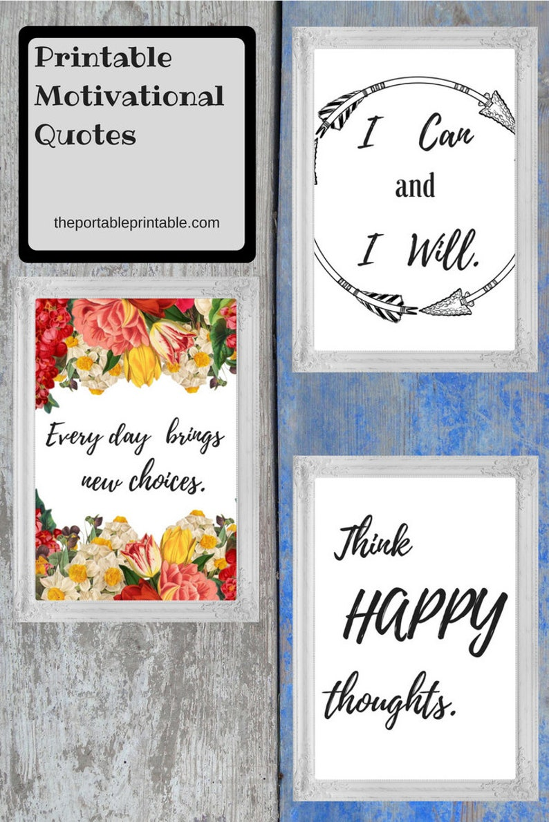 photograph about Printable Inspirational Quotes Pdf named A few (3) Printable Motivational Quotations, Inspirational Estimate, Fast Down load 8 x 10 inside. paper measurement