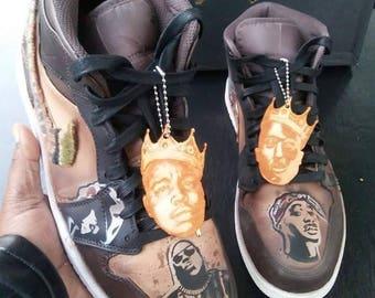 timeless design cfd91 d6b28 Retro Jordan Tupac Vs Biggie Customized Sneakers