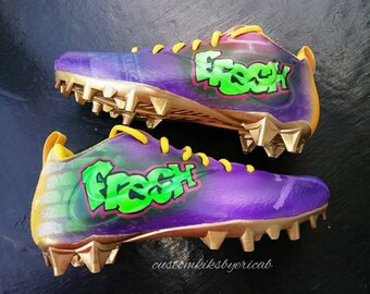 438299340 Custom Taz Football Cleats