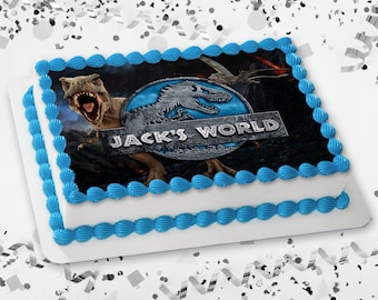 Jurassic World Cake Topper Etsy