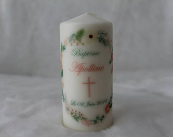 Personalized baptism candle