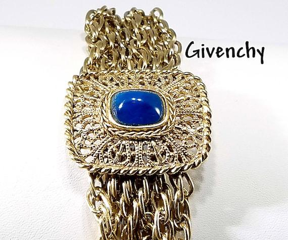 Vintage Givenchy Bracelet Multi Strand Gold Tone B