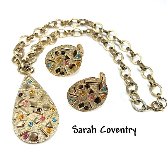 """Sarah Coventry """"Sultana"""" Necklace & Earrings Set,"""