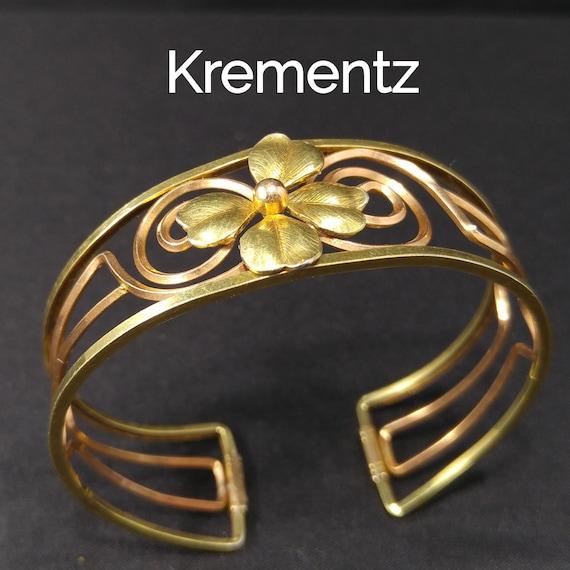 1960/'s Richard Krementz two-tone Bangle Bracelet