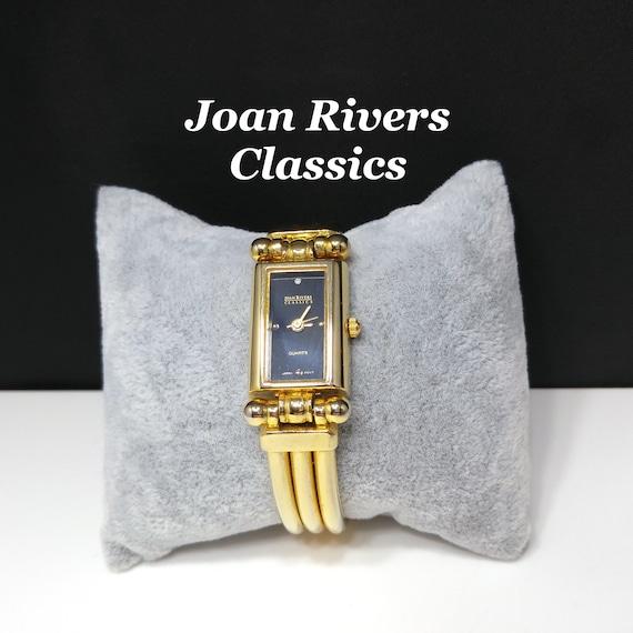 Joan Rivers Classics Watch, Gold Plated, Black Fac