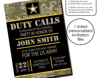 Air Force Invitation Etsy