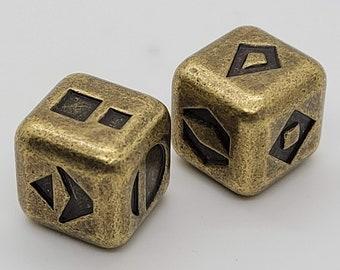 Gold Sabacc Dice Solid Metal    Metal Dice   Star Wars Sabacc Game Dice   Han Solo Lucky Dice   Millennium Falcon Dice