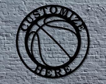 Metal Basketball Decoration Concept Logo Sign Metal Kobe Inspired Basketball sign