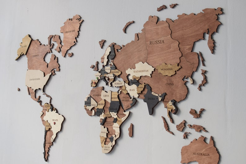 Wood Map Wood Wall Art Wooden Map Wood World Map Rustic World Map World Map  Art Travel Map World Map Wall Decor Lover Gift