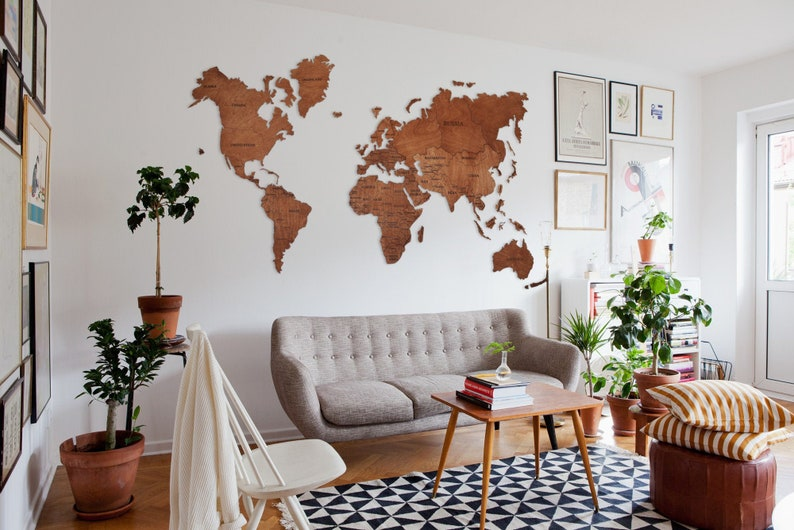 World Map, Wood Map, Wood Wall Art, Wooden World Map, Office Decor, Wall  Map, World Map Wall Art, Push Pin Travel Map, Farmhouse Decor
