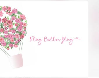 25 Balloon cards-fly balloon fly