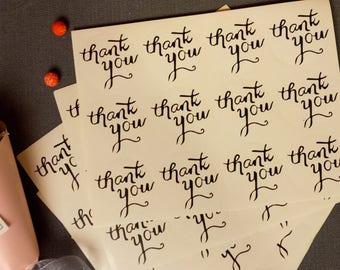 120 x Merci enveloppe Stickers fournitures de bureau de faire-parts de mariage