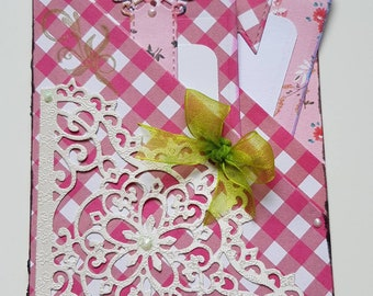 Gift, gift card envelopes, a check, ticket, congratulations 10,5 x 15 cm with 2 tags