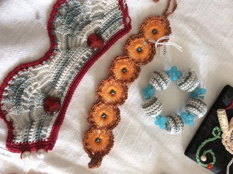 crochet bracelet OOAK Lot of bracelets