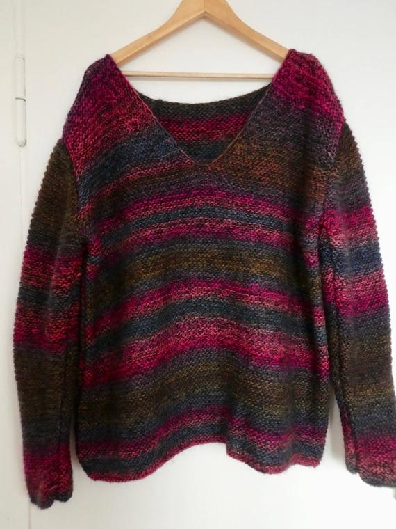 Kastiger kurzer Pullover, ideal für Lagenlooks