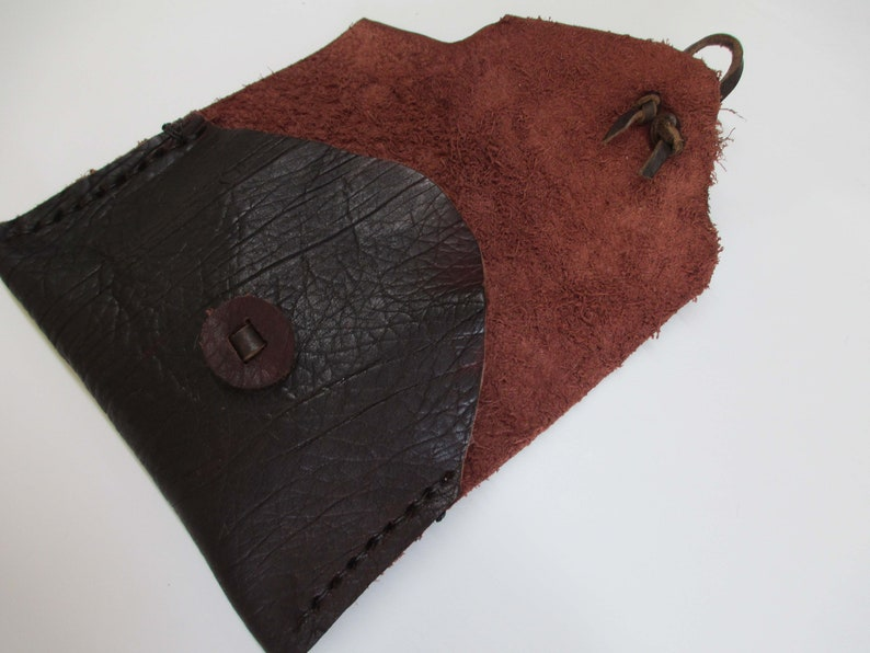 Dark Brown Grained Buffalo Leather Bag Cos13