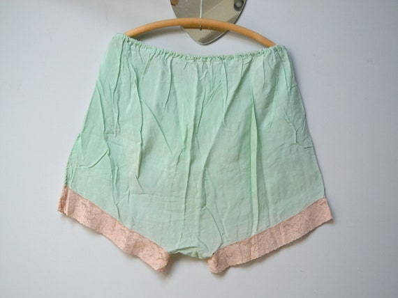 30s lingerie, French knickers, pale green boho pan
