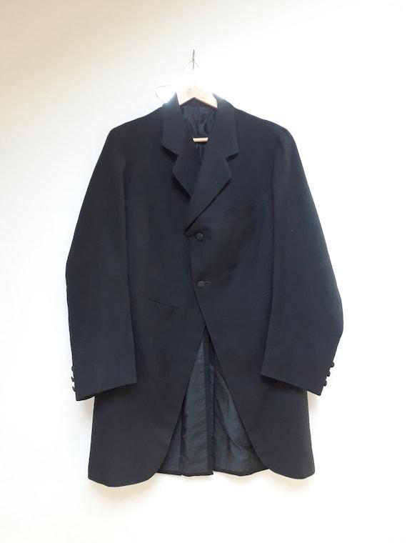 20s men jacket, black, vintage France, Paris