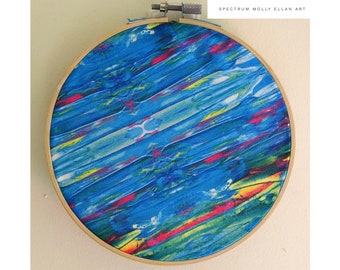 Molly Ellan Art Embroidery Hoop SPECTRUM
